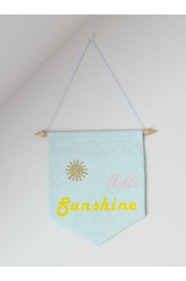 Fanion Bleu Hello Sunshine