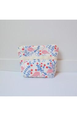 """Trousse de toilette - Petit modèle - imprimé """"Flamingo"""""""