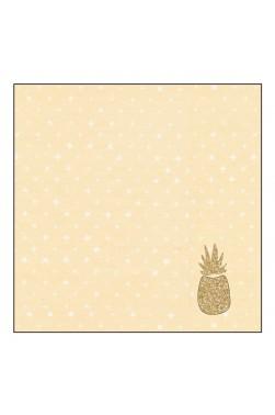 "Plaid - Tapis de jeu - Motif ""Ananas"""