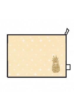 """Trousse de toilette - Grand modèle - Motif """"Ananas"""""""