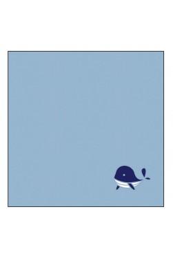 "Plaid - Tapis de jeu - Motif ""Baleine"""