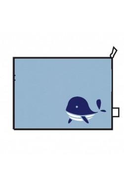"""Trousse de toilette - Grand modèle - Motif """"Baleine"""""""
