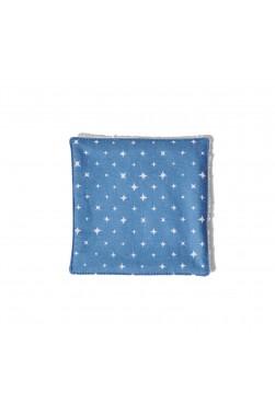 Lingette - Bleu Alpin Etoiles blanches