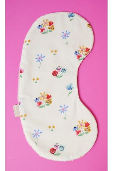 """Protège épaule en coton bio - imprimé """"Jolies fleurs"""""""