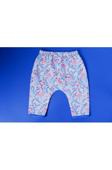 """Pantalon en coton bio - Motif """"Flamingo"""""""